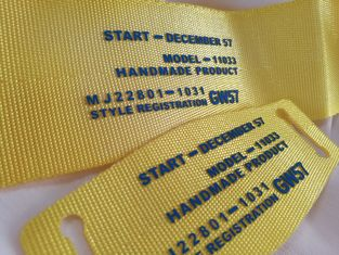 Durable Screen Printing Tagless Labels , Custom Printed Fabric Labels For Clothes / Hat