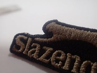 Brown Stunning Custom Embroidered Sport Patches For Clothes Decoration