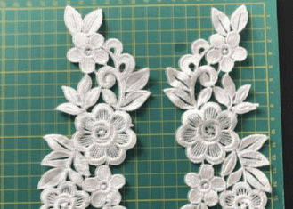 3D Flowers Embroidered Sew / Iron On Patch For Clothing Applique Diy Accessory